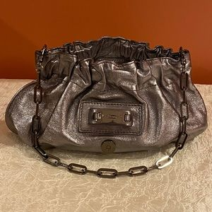 L.K.Bennett London Silver Handbag EUC